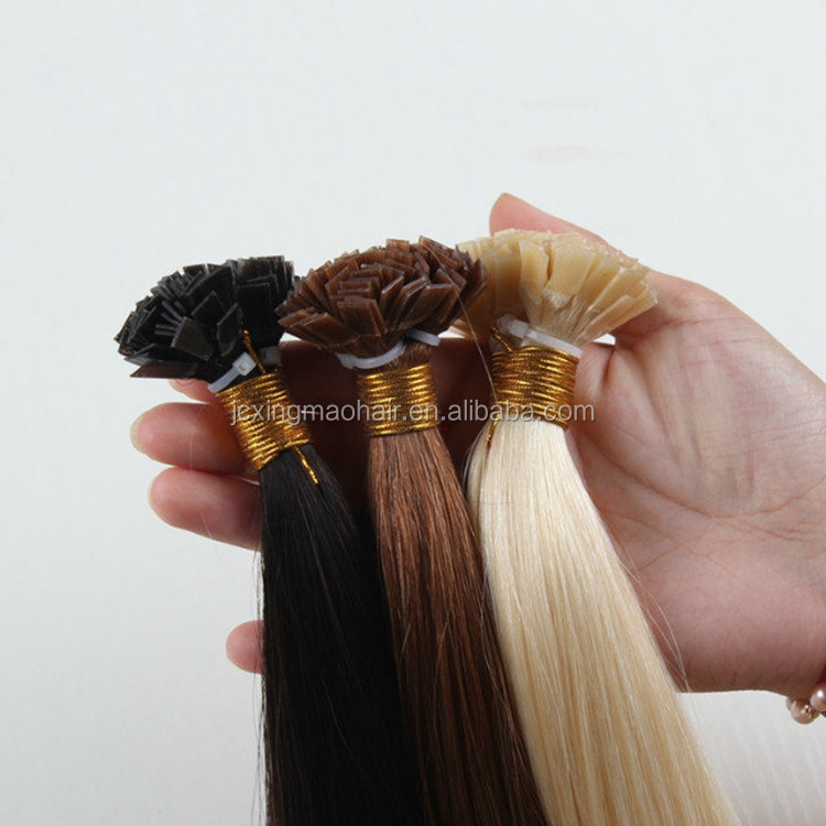 Wholesale Colourful 100 Human Remy Hair Flat Tip Hair Extensions