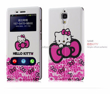 Hot selling hello kitty smart phone cover case for xiaomi hongmi redmi note