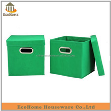 green color storage box with metal handle