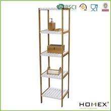 Bamboo Bathroom shelf /5 Tier Corner Collection/Organize Bathroom/Homex_BSCI