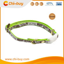 Adjustable Neck Size 20~30cm Sea Turtle Printing Nylon Pet Dog Collar Green Color, Free Shipping on 49usd order