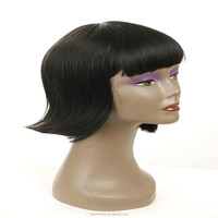 New product black color cheap price belle madame german synthetic hair wig