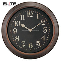 40.8 cm dia quartz metal wall clock
