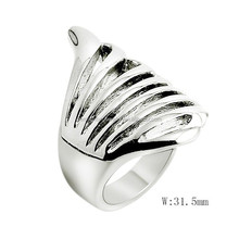 SRR2037 New Product Costa Shape Ring Silver Tone Mens Ring 316L Stainless Steel Ring