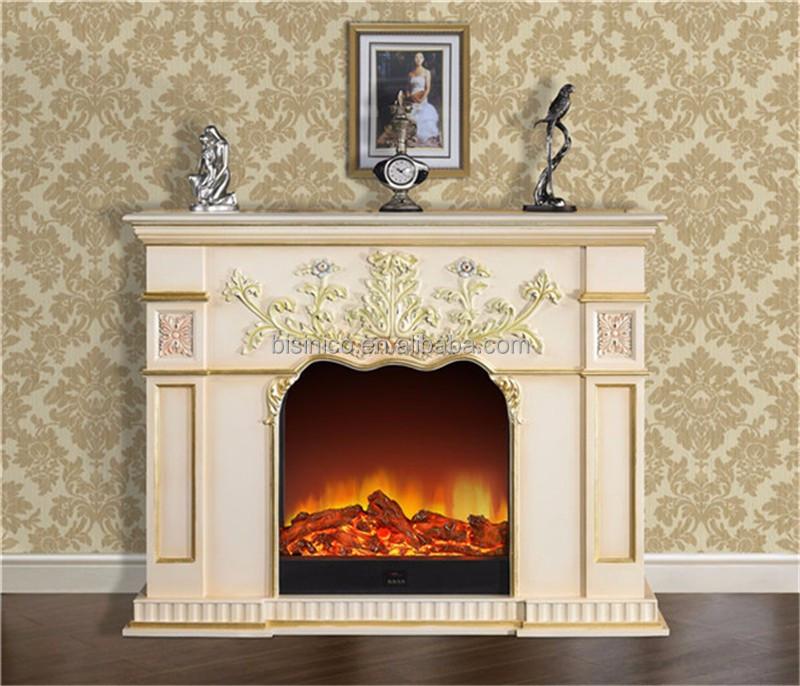 G orgienne style sculpt bois foyer lectrique d corative - Como hacer chimeneas decorativas ...