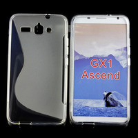 S Line Wave TPU Gel Case for Huawei Ascend GX1, Soft Mobile Phone Case TPU Case for Huawei Ascend GX1 Laudtec