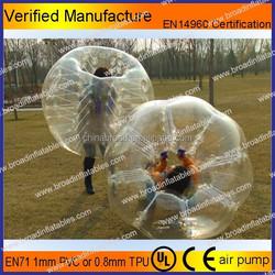 PVC TPU bubble football,bubble ball for football,inflatable bubble football