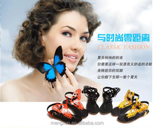 2015 new summer sandals female student tide flat Korean butterfly clip clip toe sandals female foot flat sandals