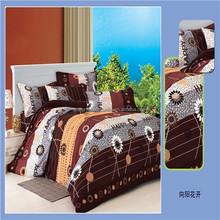 hot sale reactive printing 100% cotton bedding sets bed sheet set
