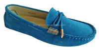 Cow suede fashion casual leather flat loafter ladies shoes