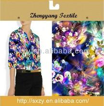 Custom flower printed China imported silk fabric
