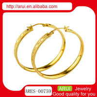 18K gold earrings big ring fashion and sexy women earrings
