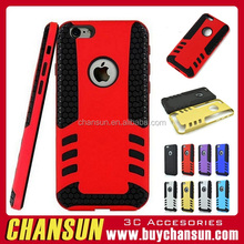 fashion hybrid shockproof rocky tpu pc case for iphone 6 plus