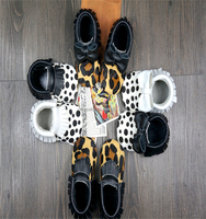 Leopard fringe bow suede hot selling new style cute lovely soft genuine cow leather baby shoes baby moccasins