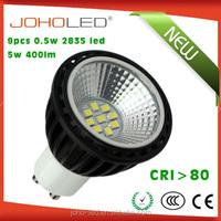 Nice light shape LED gu10 5watt 3000-6000k 60degree 400lm led GU10 spot light