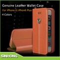 couro de luxo caso do telefone móvel para cobrir apple iphone6