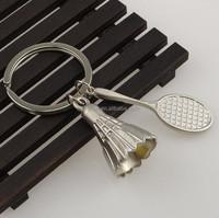 Creative gifts 3D Badminton / Badminton racket Key chain / keychain / keyring