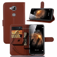 Top Selling Durable Flip Wallet Style Magnetic Flip Stand PU Leather Case For Huawei G8 fast delivery