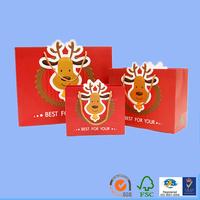 wax coated cute design handmade christmas holiday paper bag