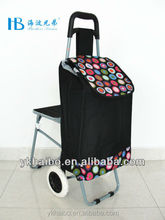 collapsible supermaket carrier shopping carts with baby chair