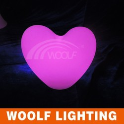 PE materical LED furniture led heart-shape Decorative lights remote controller