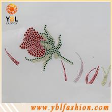Rose Glass ss6 rhinestone applique trim for decoration