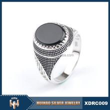 Turkish elegant 925 siiver stone men ring