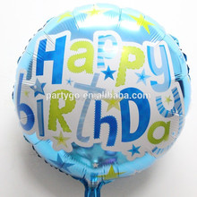 Round shaped China mylar happy birthday balloons for party decorations and gift toy