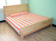 wooden headbord bed double size