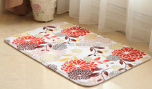 Rubber backed non woven printed mats