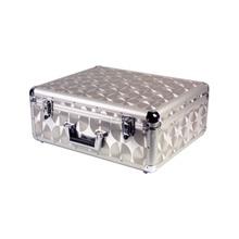 ProSound Aluminium Flight Deck Case DJ Lockable Removable Lid Silver Travel New