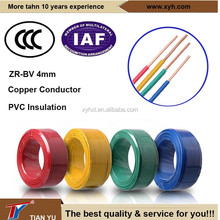 Flame Retardant BV 4mm PVC Insulated Copper Conductor Electrical Wire