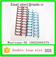 nylon coated Double Wire O Ring,double o binding wire,double spiral metal o ring for Office bookbinding