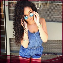 2015 Fashion deep curly full lace wig swiss lace 100% virgin peruvian remy human hair wigs