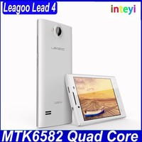 "Original Leagoo Lead 4 Mobile Phones MTK6572 Dual core Android Smartphone 4"" 512MB RAM 4GB ROM WCDMA 3G Cheapest"