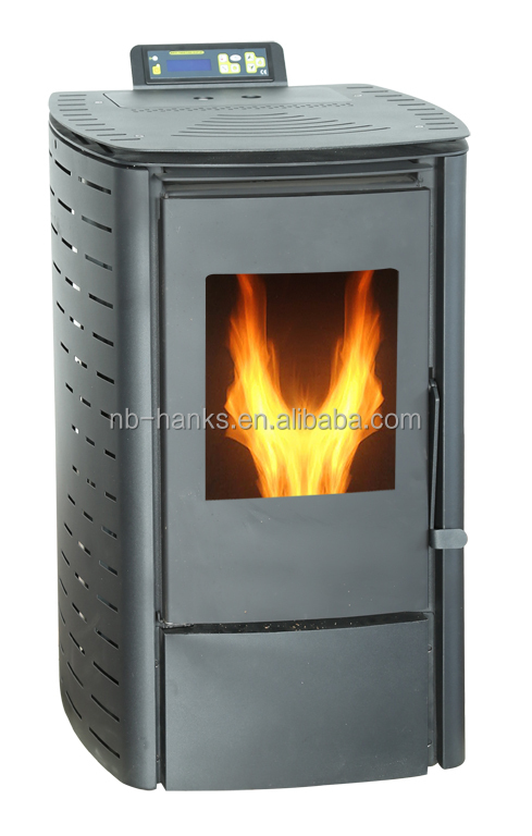 home using small wood pellet stove with remote control 6kw. Black Bedroom Furniture Sets. Home Design Ideas