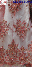 CL6360-9 2015 Top Fashion Latest Design mark dress beaded net lace for wedding/party with wholesale price