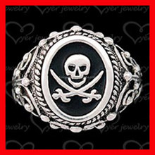 Wholesale skull ring replica signet ring with good quality