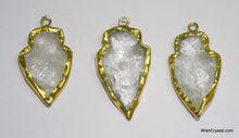 Wholesale Agate Crystal Arrowhead pendant - C45