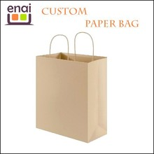 Recycle Kraft Paper Bag Brown paper Shopping Bag With Paper Handle