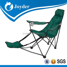 Reclining camp chair with footrest for sale folding beach chair