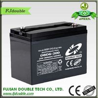 production and service of lead-acid accumulator DBD6-200 deep cycle battery 6v 200ah for your market