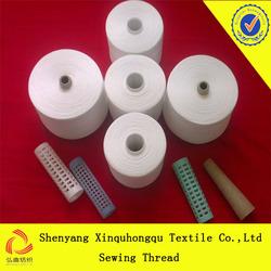 T30s/2 100% Yizhen spun polyester sewing thread in raw white
