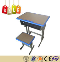 High quality factory wholesale chrome steel panel fireproof school desk set on sale