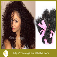 6A Afro Kinky Curly Virgin Brazilian Hair Weaving Unprocessed human virgin hair extension