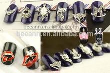 Venta al por mayor diseños de uñas decoración de uñas aleación 3d nail art supply