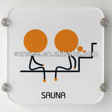 open closed door sign, Novelty design acrylic sauna sign ,PSIGN-054