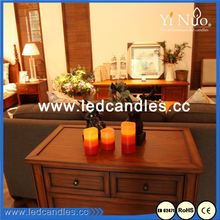 Simple Styles Cheap Scented Wave Edge LED Candles with Timer