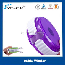 2015 new promotional gift earphone cable automatic cord organizer