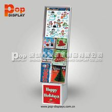 make up cardboard paper pop up sidekick display stand for stickers